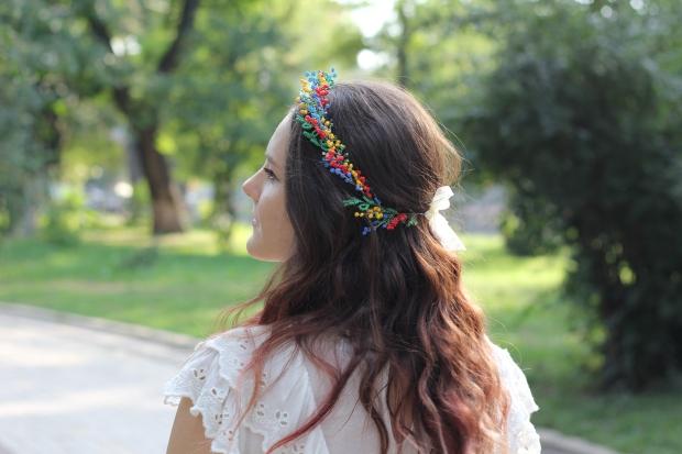 Handmade hair wreath summer inspired